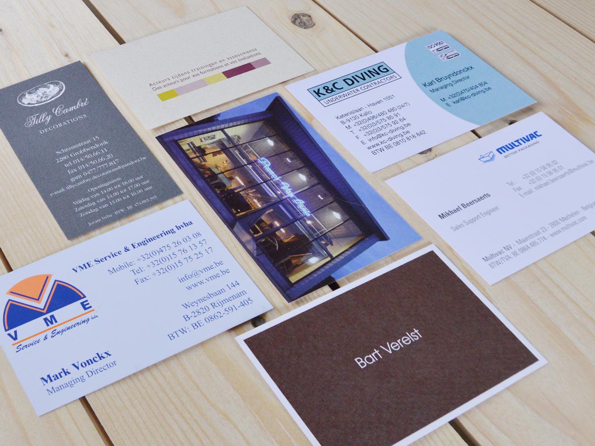 Naamkaarten offset en digitaal